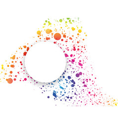 Abstract rainbow dotted background with color vector