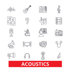 Acoustics sound music guitar electric vector