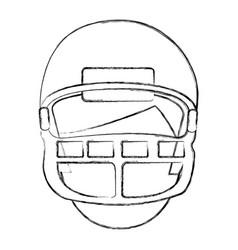 American football player avatar vector