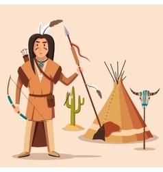 american or indigenous aboriginal indians vector image