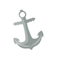 Anchor for boat isolated icon vector