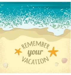 Background with sea sand beach and place for text vector