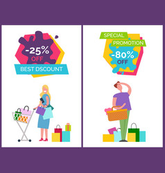 best discount and special vector image