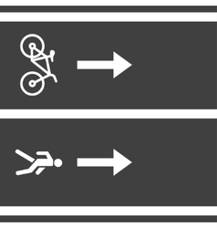 bicycle and pedestrian paths vector image