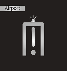 Black and white style icon airport scanner vector