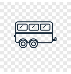 caravan concept linear icon isolated on vector image