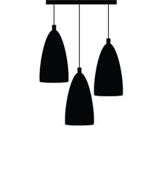 chandelier set silhouette black vector image