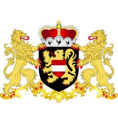Coat of arms of flemish brabant in flemish region vector
