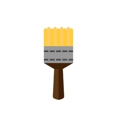 color paint brush on white background flat vector image