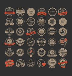 Colored retro labels collection vector