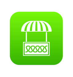 commercial stall icon green vector image