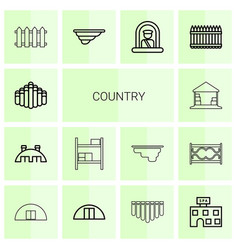 Country icons vector