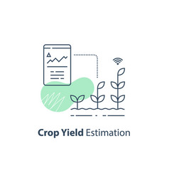 Crop data report soil condition control vector