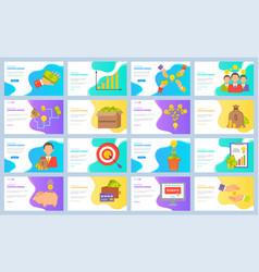 crowdfunding target and money infocharts set vector image
