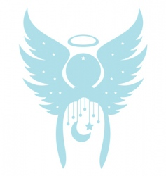 decorative angel vector image