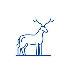 deer line icon concept deer flat symbol vector image