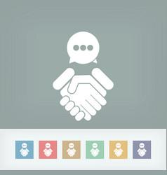 dialogue to reach an agreement vector image