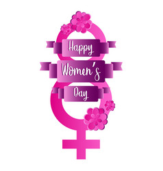eight shaped female gender symbol women day vector image