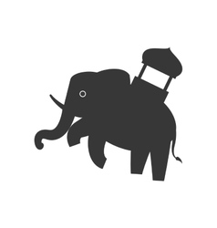Elephant as Sacred animal icon Indian Culture vector image