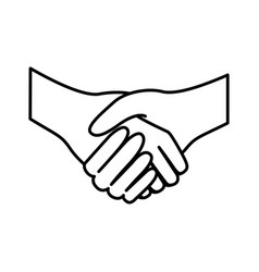 figure handshake sticker icon vector image