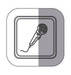 figure symbol microphone instrument icon vector image