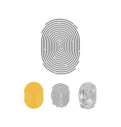 Fingerprint icons set abstract thumbprint vector image