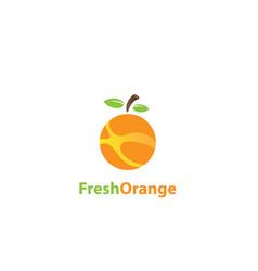 fresh orange logo vector image