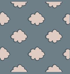 geometric cloud sky seamless pattern simple vector image
