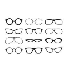 glasses silhouette fashioned stylish accessories vector image