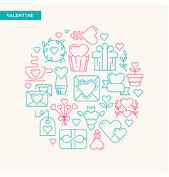 happy valentines day typography design postcard vector image