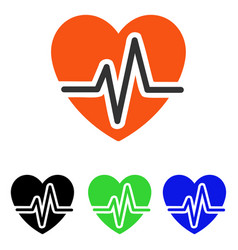 heart diagram flat icon vector image