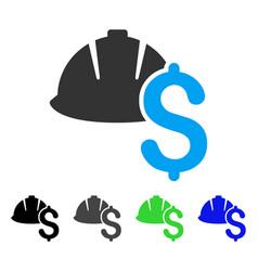 Helmet and dollar flat icon vector