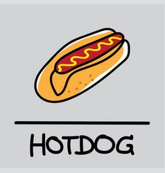 Hotdog hand-drawn style vector