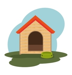 House dog isolated icon vector