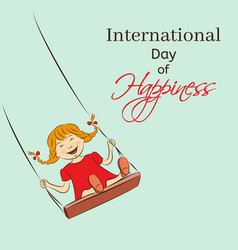International day of happiness vector