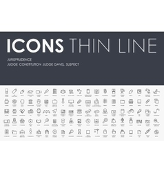 jurisprudence Thin Line Icons vector image