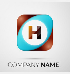 letter h logo symbol in the colorful square on vector image
