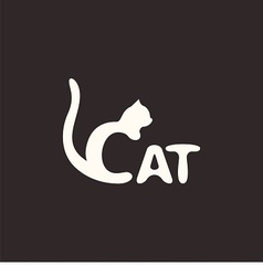 logo cat vector image