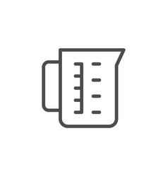 measuring cup line outline icon vector image