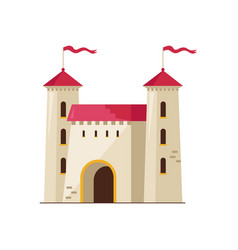 medieval stone castle isolated icon vector image