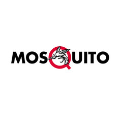 Mosquito text mascot vector