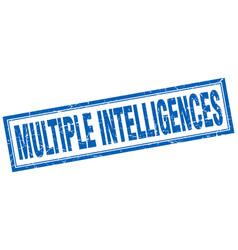 Multiple intelligences square stamp vector