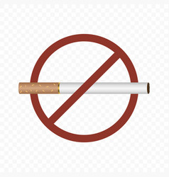 No smoking sign on a transparent vector