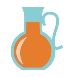 Orange juice pitcher icon vector