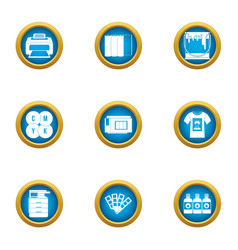 Paint over icons set flat style vector