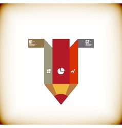 Pencil modern banner design template vector image