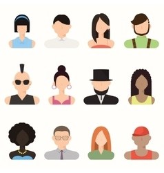 People avatar male and female human faces vector image vector image