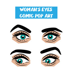 pop art cartoon comic stare woman eyes vector image