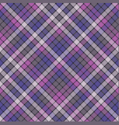 Purple pixel plaid fabric texture seamless pattern vector