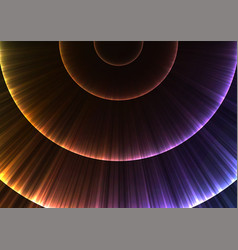Rainbow circle radiation abstract line layer backg vector
